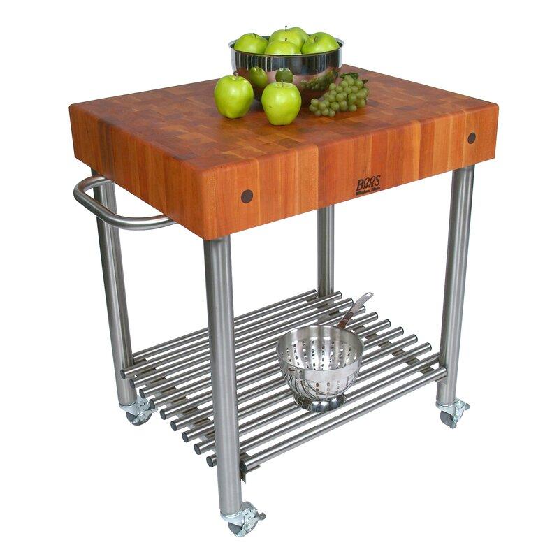 John Boos Cucina Americana Kitchen Cart with Butcher Block Top | Wayfair