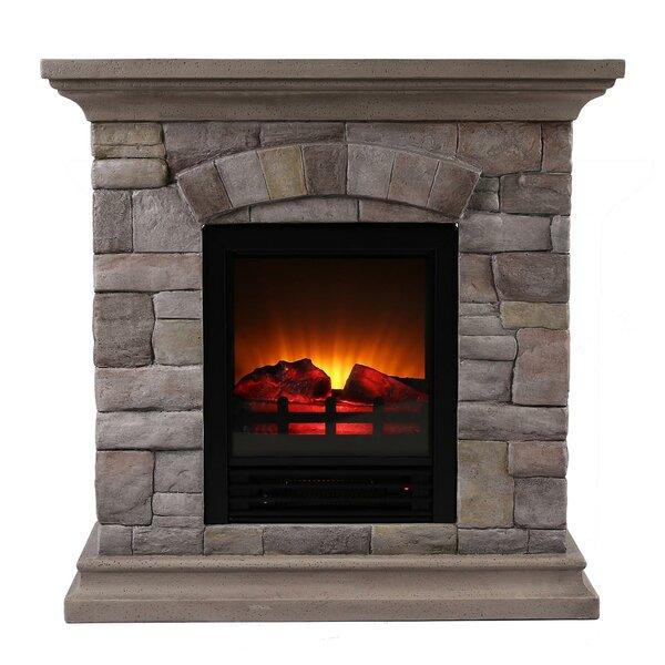 millwood pines ozzie portable faux stone electric fireplace wayfair rh wayfair com stone electric fireplace suites stone electric fireplace canada