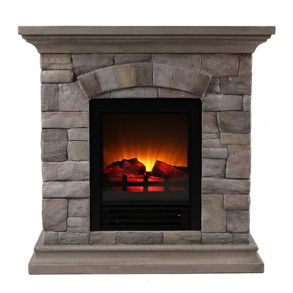 ok lighting portable faux stone electric fireplace. Black Bedroom Furniture Sets. Home Design Ideas