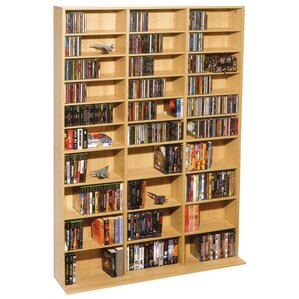 Traditional Multimedia Storage Rack by Latitude Run