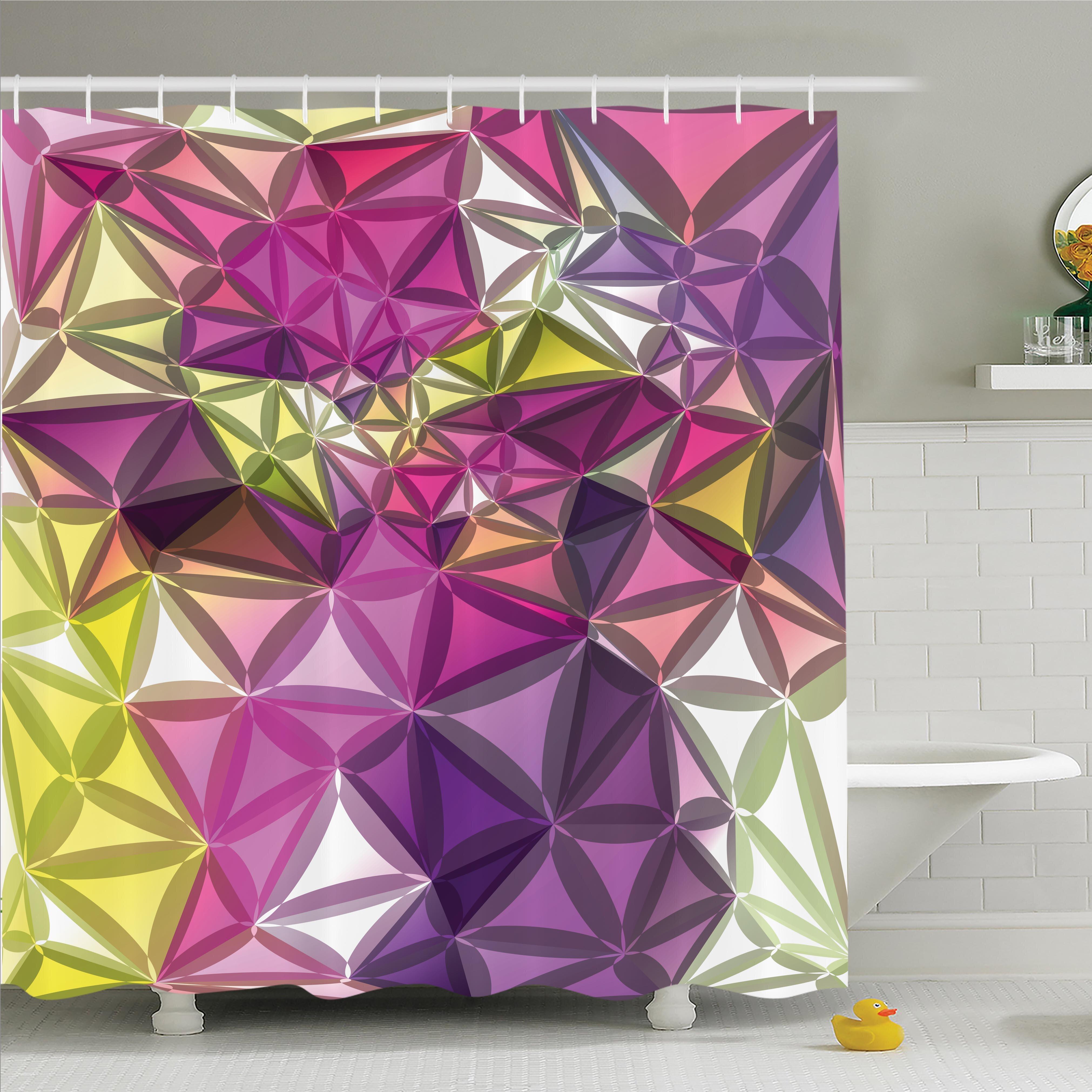 Latitude Run Nathanael Geometrical Shiny Shower Curtain Set