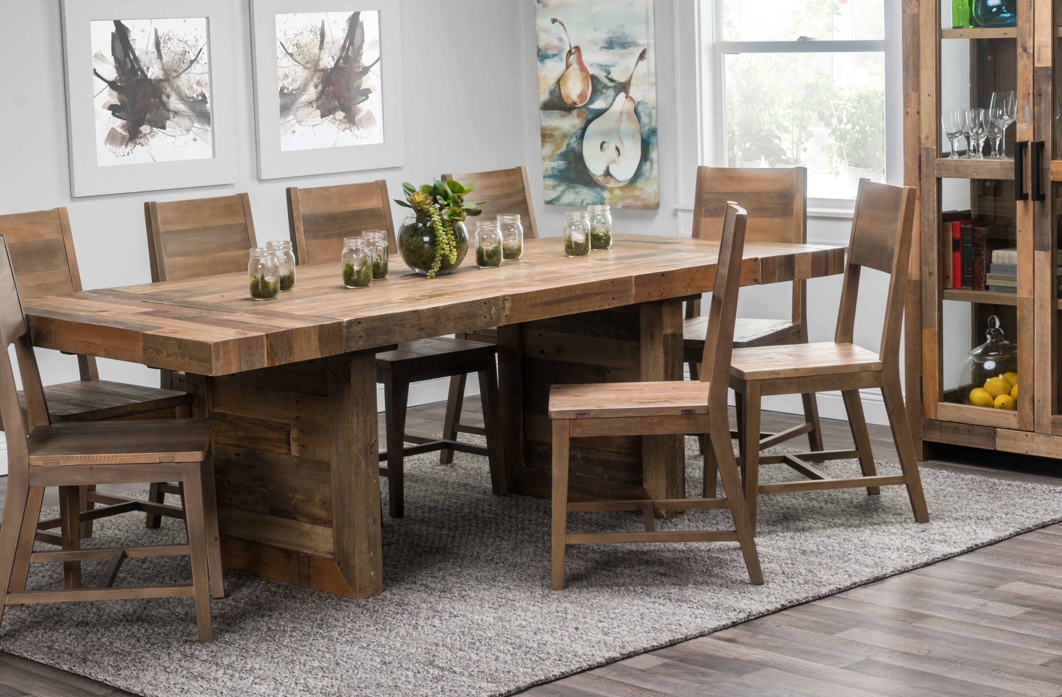 & Kosas Home Norman Extendable Solid Wood Dining Table   Birch Lane