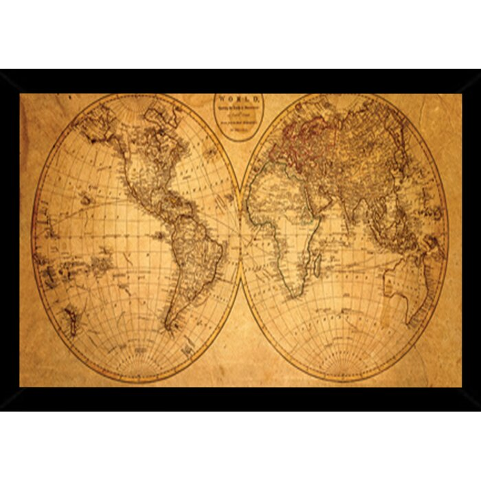 Frame usa old world map framed graphic art print poster old world map framed graphic art print poster gumiabroncs Gallery