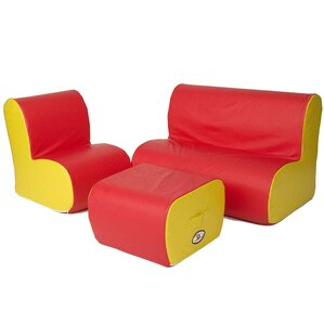 Cloud 3 Piece Soft Seating by Foamnasium