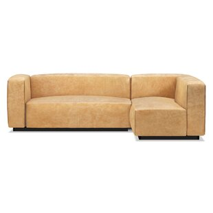 modern contemporary small leather sectional sofa allmodern rh allmodern com small sectional leather couch buy leather sectional sofa online