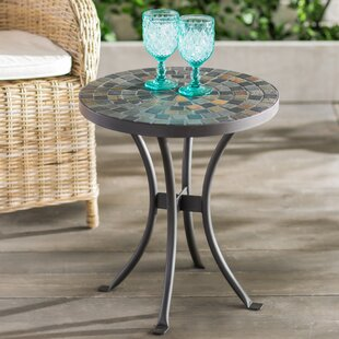 outdoor side tables you ll love wayfair rh wayfair com outdoor patio side table with umbrella hole outdoor patio side tables with mosaic top