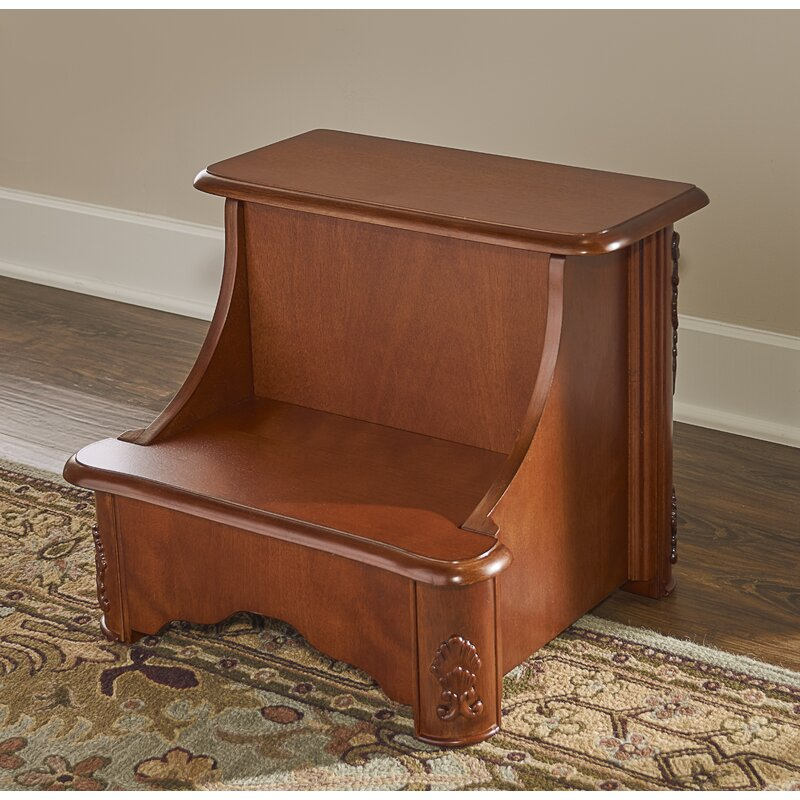 Charmant Woodbury Mahogany 2 Step Manufactured Wood Bed Step Stool With 200 Lb. Load  Capacity