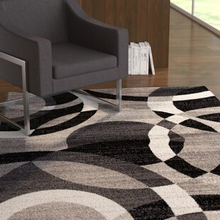 Ebern Designs Allison Black Burgundy Area Rug Wayfair