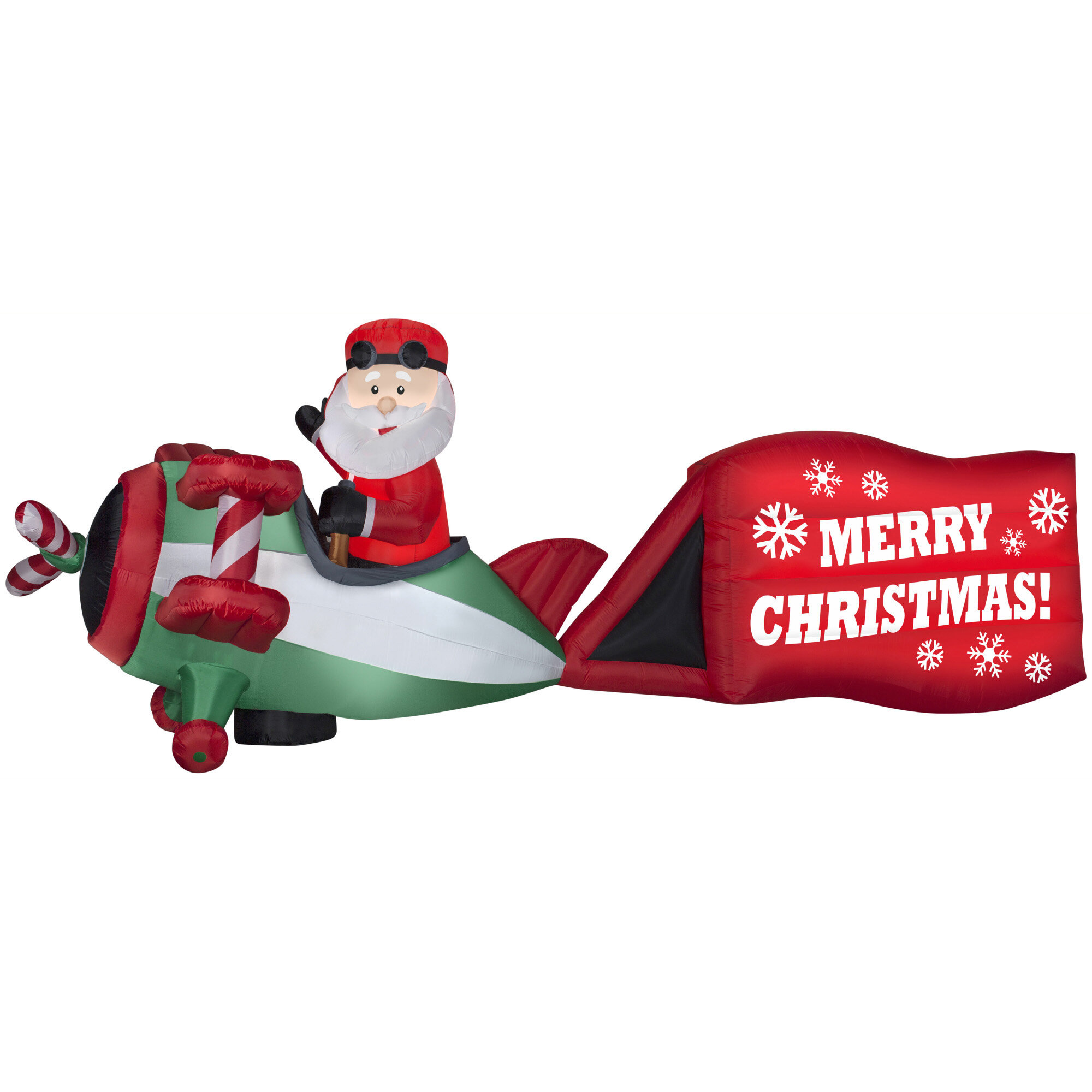 The Holiday Aisle Santa on Airplane with Sign \