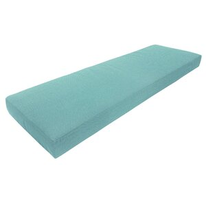 Knife Edge Outdoor Sunbrella Bench Cushion with Zippered