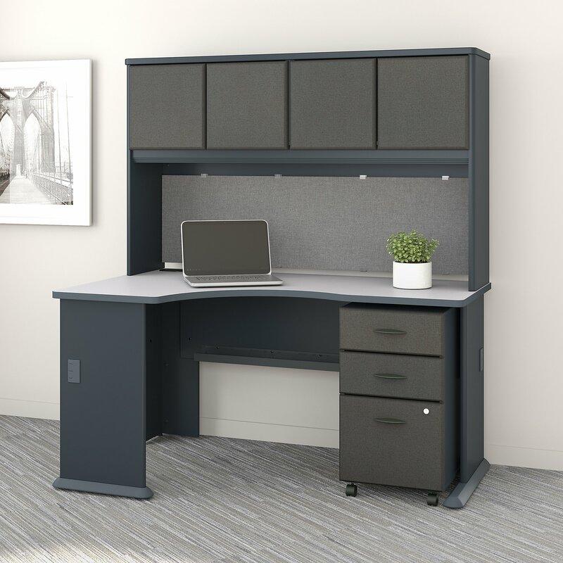 Bush Business Furniture Series A Left Corner 3 Piece L Shape Desk Office Suite Wayfair