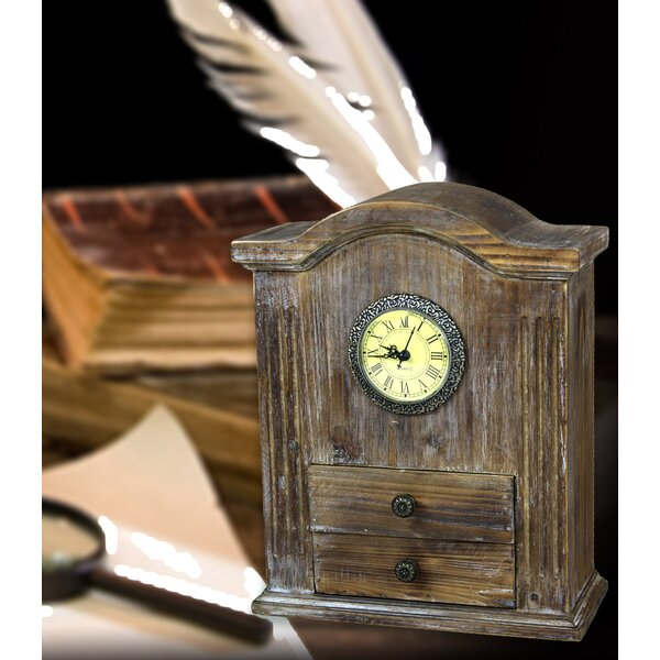 Quickway Imports Vintage Wooden Desk Clock Wayfair