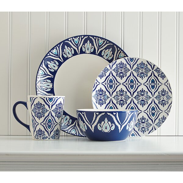 Birch Lane™ Candice 16 Piece Dinnerware Set Service for 4 \u0026 Reviews | Birch Lane  sc 1 st  Birch Lane : 16 piece dinnerware sets - pezcame.com