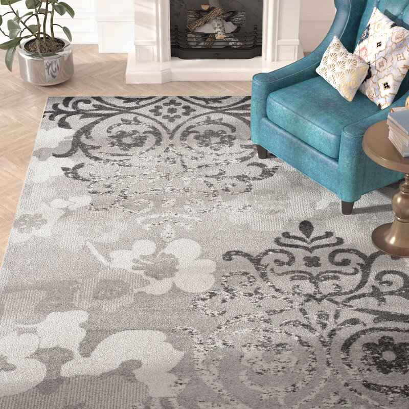 Frizzell Silver Ivory Area Rug