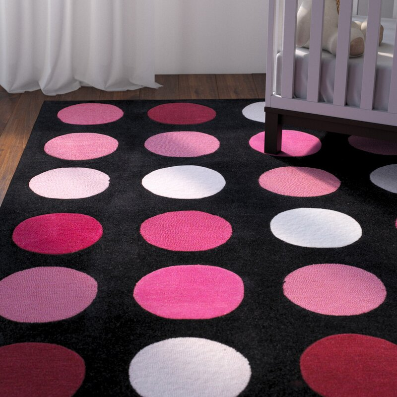 pink and black rug. Ronnie Hand-Tufted Pink/Black Area Rug Pink And Black O