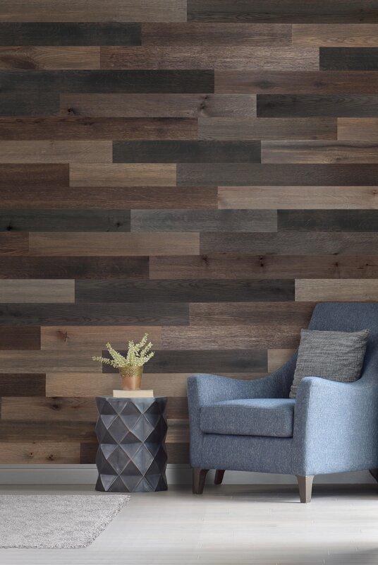 "Wood Wall Paneling: Wallplanks 5.1"" Engineered Wood Wall Paneling In Cobalt"