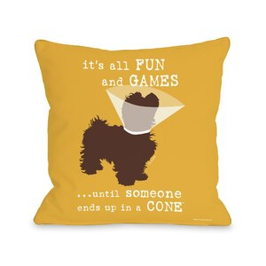 Doggy Du00e9cor Fun and Games Throw Pillow