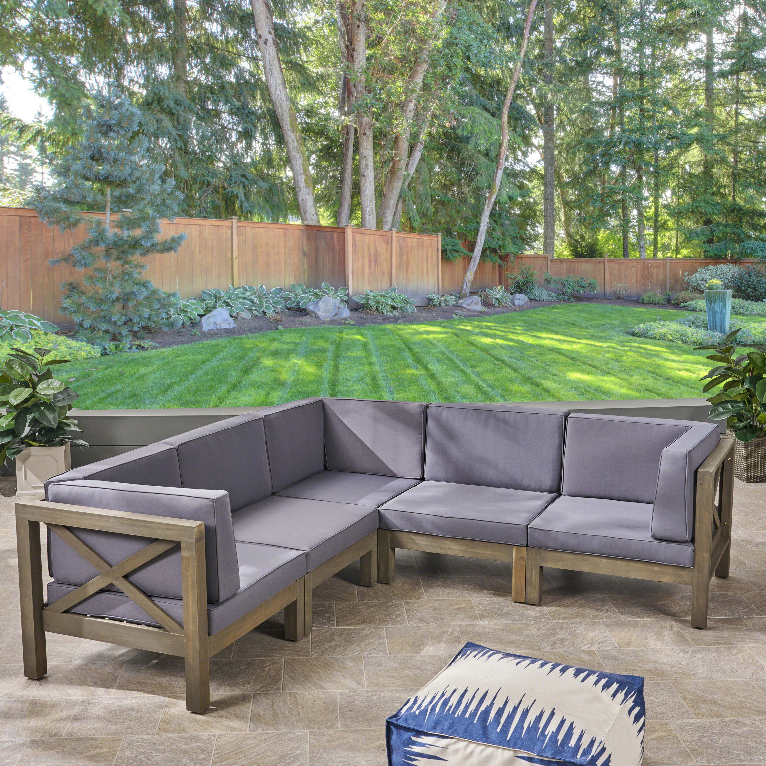 Wayfair & Ellison Patio Sectional with Cushions