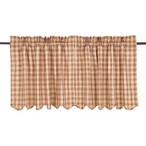 Sky Valley Scalloped Tier Curtain (Set of 2)