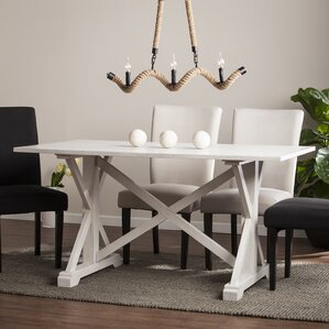 White Distressed Dining Table | Wayfair