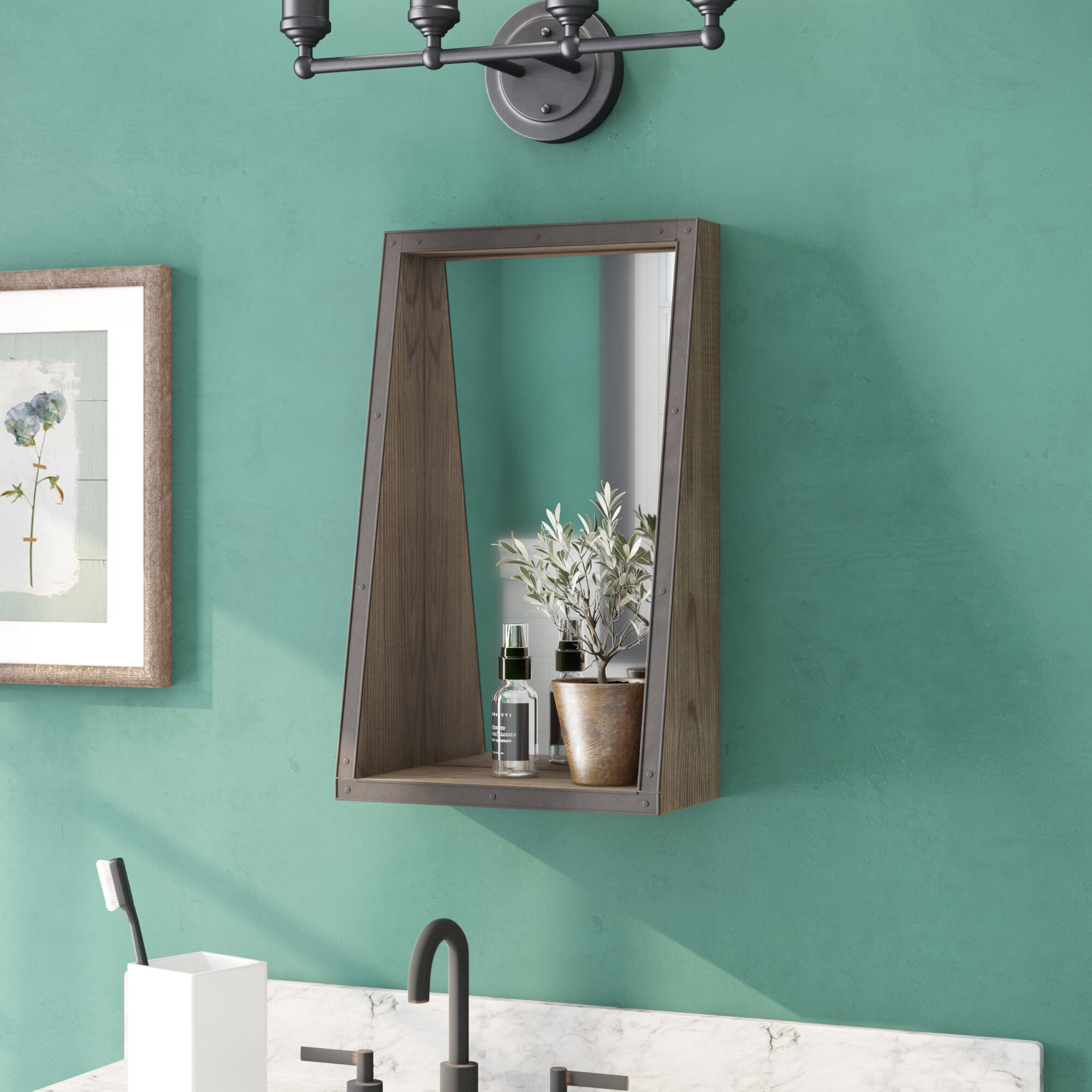 45f45bf5db178 Champagne Black Wall Mirror   Reviews