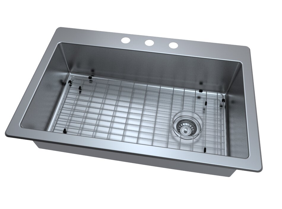 valencia series 33   x 22   single bowl drop in kitchen sink ancona valencia series 33   x 22   single bowl drop in kitchen sink      rh   wayfair com