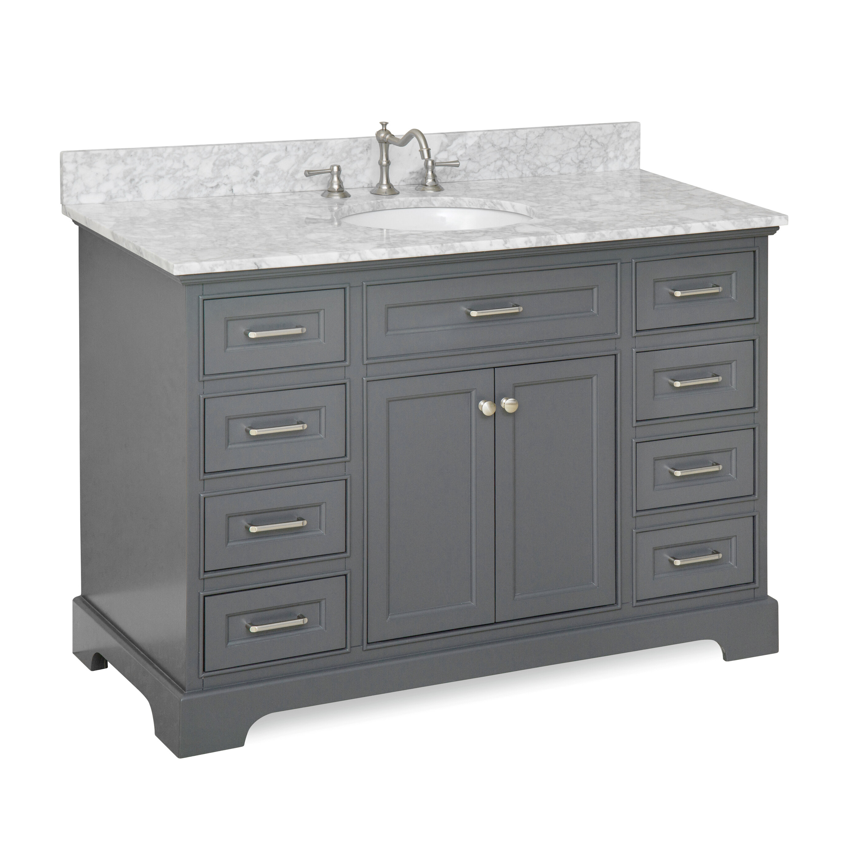 KBC Aria Single Bathroom Vanity Set Reviews Wayfair - Manufactured home bathroom vanity