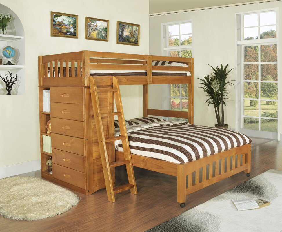 Viv + Rae Kaitlyn L-Shaped Twin over Full Bunk Bed & Reviews | Wayfair