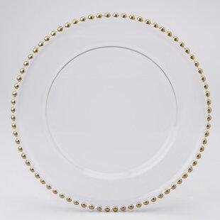 Beaded Edge Charger Plate (Set of 8)  sc 1 st  Wayfair & Charger Plates You\u0027ll Love | Wayfair