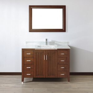 Jacchi 48 Single Bathroom Vanity Set with Mirror