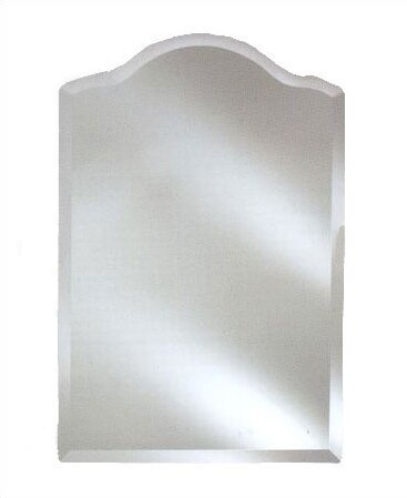 Frameless Wall Mirror afina radiance scallop top frameless wall mirror & reviews | wayfair