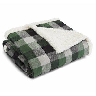 0fdb90c5ba Finley Plaid Flannel Sherpa Fleece Throw