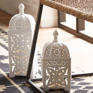 Lissie 2 Piece Ceramic Lantern Set
