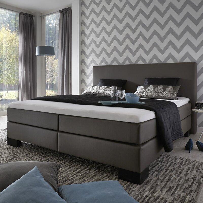 home loft concept boxspringbett velo mit topper. Black Bedroom Furniture Sets. Home Design Ideas