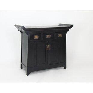 Oriental Furniture Black Lacquer Cabinet | Wayfair
