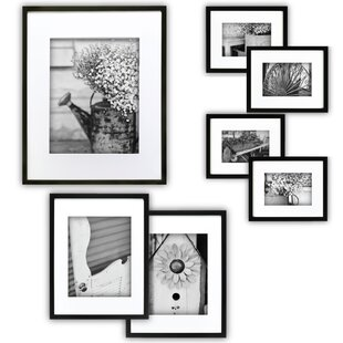 black picture frame. 7 Piece Perfect Wall Picture Frame Set Black