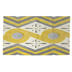 Battaglia Yellow/White Area Rug
