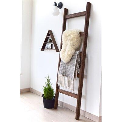 Foundry Select 6 ft Blanket Ladder Finish: Dark Walnut