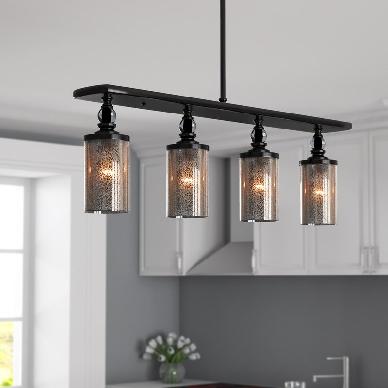 Kitchen Lighting Fixture Sets: Clay 4-Light Kitchen Island Pendant & Reviews