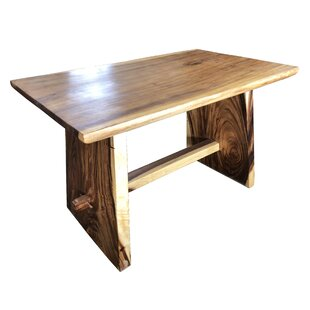 Mcphearson One Block Slab Solid Wood Dining Table