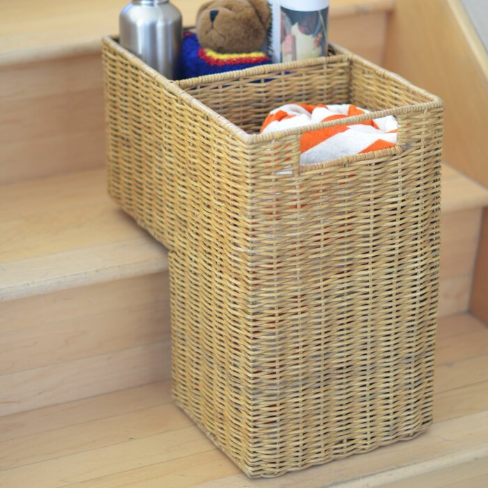 Good Wicker Stair Step Basket
