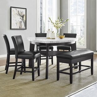 Carrara 6 Piece Counter Height Pub Table Set