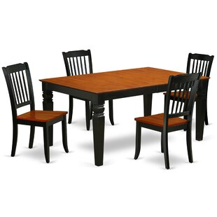 Kyte 5 Piece Extendable Solid Wood Dining Set Wonderful