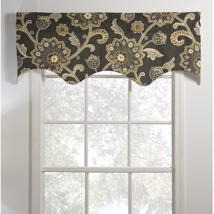 Lined living room valances wayfair for Lined valances for living room