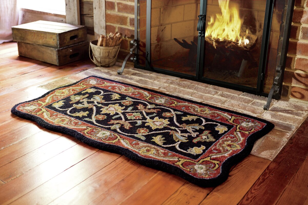 plow u0026 hearth mclean hand tufted wool black area rug u0026 reviews
