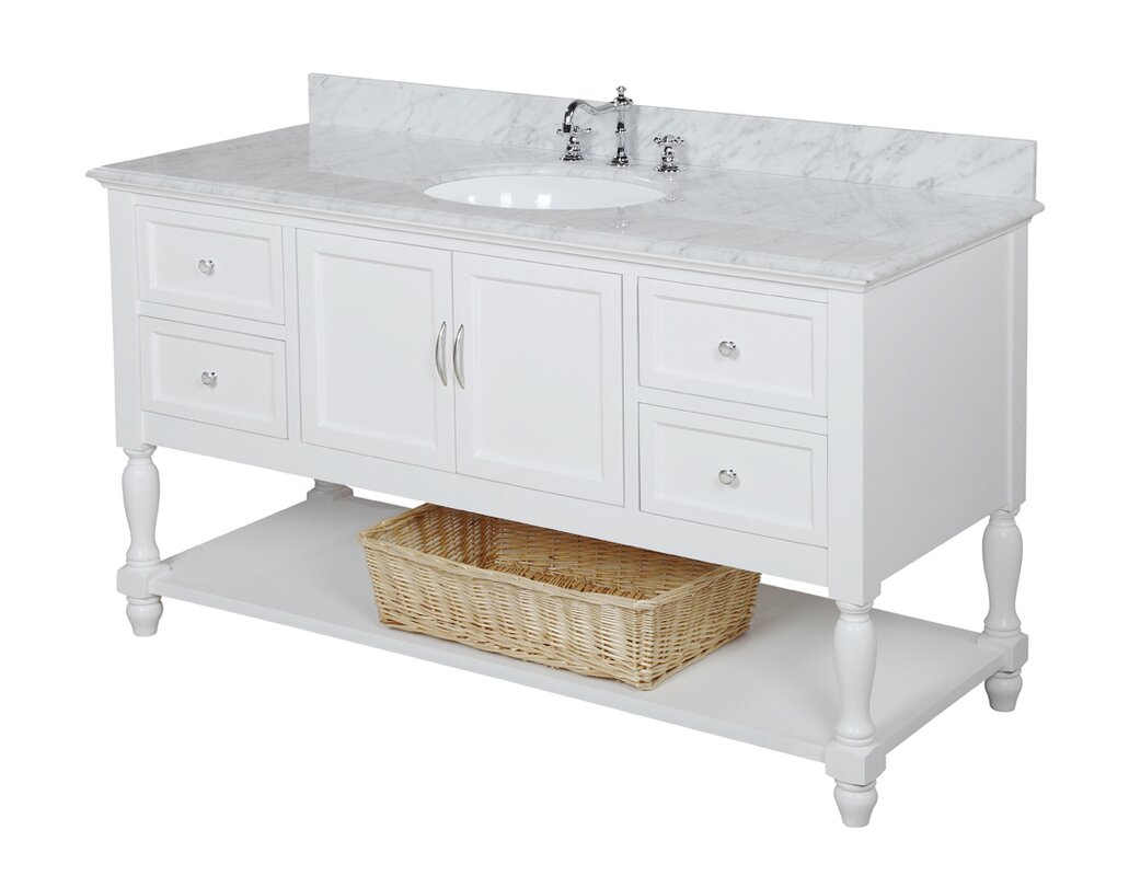 "60 Bathroom Vanity Kbc Beverly 60"" Single Bathroom Vanity Set & Reviews  Wayfair"
