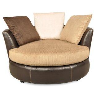 Gentil Vogelsang Swivel Barrel Chair