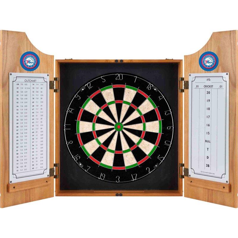 Trademark Global Nba Wood Dart Cabinet Set Amp Reviews Wayfair