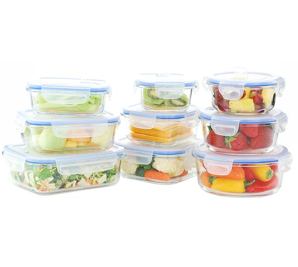 Glasslock Food Storage Container Sets Inspiration Kinetic Go Green Glass Lock Elements Oven Safe 60 Container Food