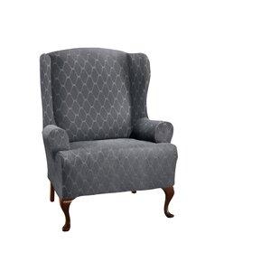 Grey Wing Chair Slipcovers Youu0027ll Love | Wayfair